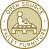 Pallet Furniture Construction Icon, DIY pallet chair, DIY pallet table, DIY pallet bed, DIY pallet end table, recycled pallet construction, building with pallets, pallet furniture, open source pallet designs, eco-pallet construction, Duplicable City Center Pallet Furniture, green living, sustainable community, upcycled pallet designs, pallet closet design, One Community