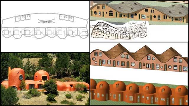Cob Village (Pod 3) designs, One Community