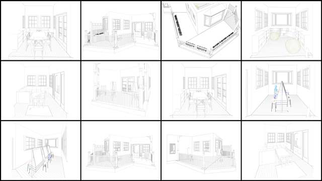 Working on the Tree House Village (Pod 7), Jesika Rohrbach (Architectural Drafter, Designers, and 3-D Modeler) continued working on the social and recreational space updates you see here. These are design updates 3.0 from Jesika and include reading spaces, kids' play spaces, game spaces, and the patios for these tree house spaces.