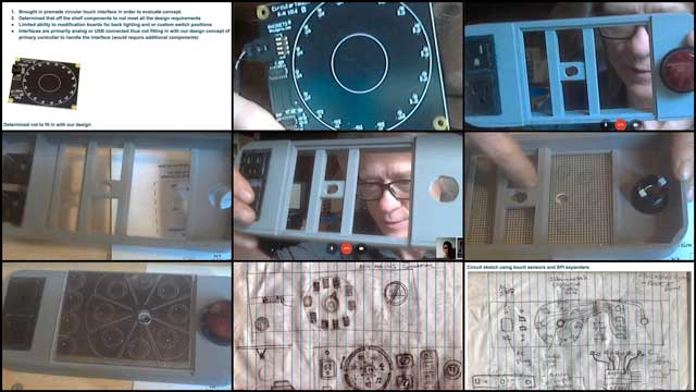 Behind the scenes Mike Hogan (Automation Systems Developer and Business Systems Consultant) and Lucas Tsutsui da Silva (4th-year Computer Engineering Student) continued development of the Control Systems main panel. What you see here is a combination of a capacitive touch panel Mike purchased for testing, a layout drawing for how it might work, and a faceplate he 3-D printed to further test the layout drawing. For a great video on how capacitive touch sensors work, visit this week's written blog.