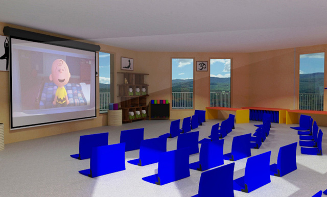 City Center Cupola Multi Media room, One Community