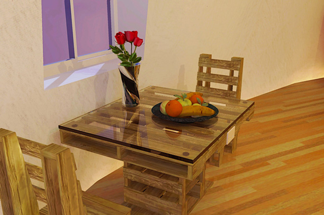 Diy pallet furniture open source hub sustainable beautiful pallet furniture table and chairs solutioingenieria Gallery