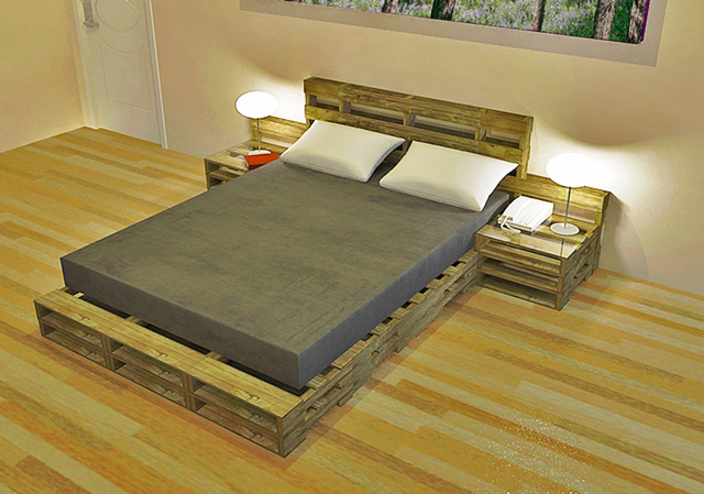 pallets furniture. Living Dome Rental Room Do-it-Yourself-Replicable Pallet Furniture Bed And  End Tables Pallets Furniture A